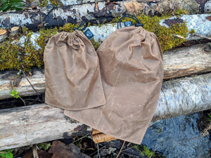 waxed canvas and nylon blend food sacks by PNW BUSHCRAFT