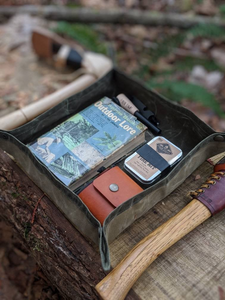 XL Waxed Canvas Travel Tray - PNW BUSHCRAFT