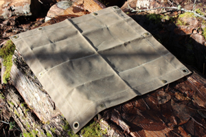Waxed Canvas Junior Ground Cloth for Bushcraft - PNW BUSHCRAFT