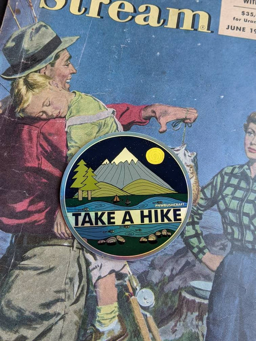 Take a Hike Holographic Sticker