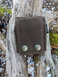 waxed canvas foraging pouch