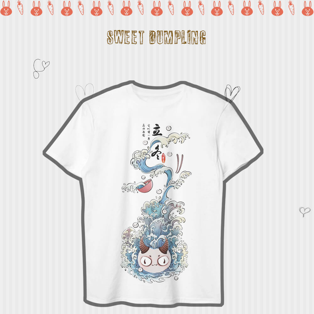 tshirt,art,wholeprint,3D,OPD,shirt,sweet dumplings, cute