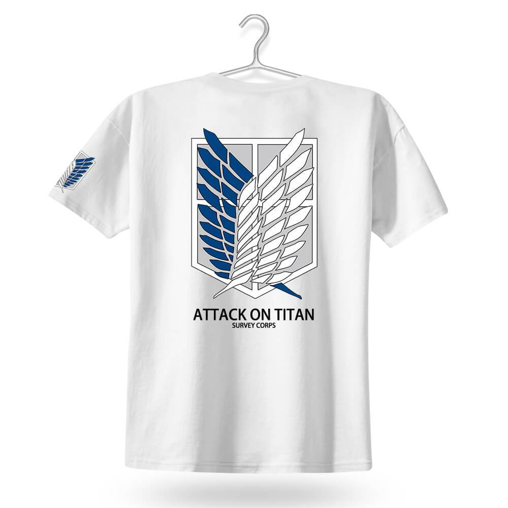 tshirt,shirt,anime,attack on titan,men,titan,survey corps,manga,Japan
