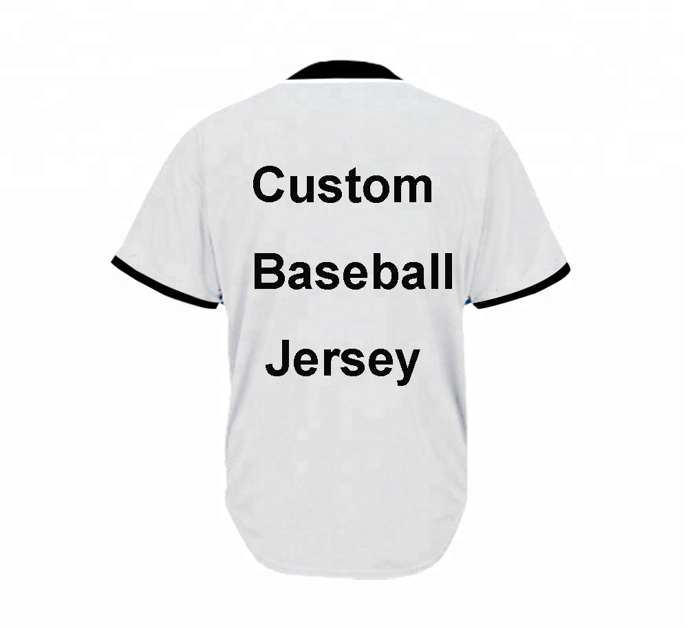 Custom sublimation digital full printing blank baseball jersey