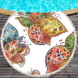 Butterfly Large Round Beach Towel for Adult 150cm