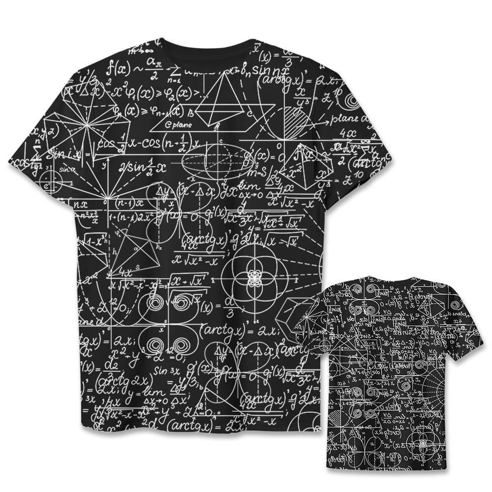 tshirt,art,wholeprint,3D,equation,math,science,einstein