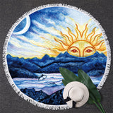 3D custom printing Round large Beach Towel Sunblock Blanket 150cm