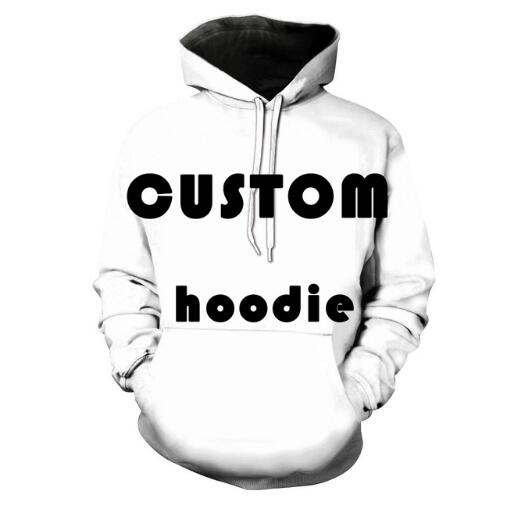Pullover sweatshirt custom sublimation 3D print design your own hoodie unisex