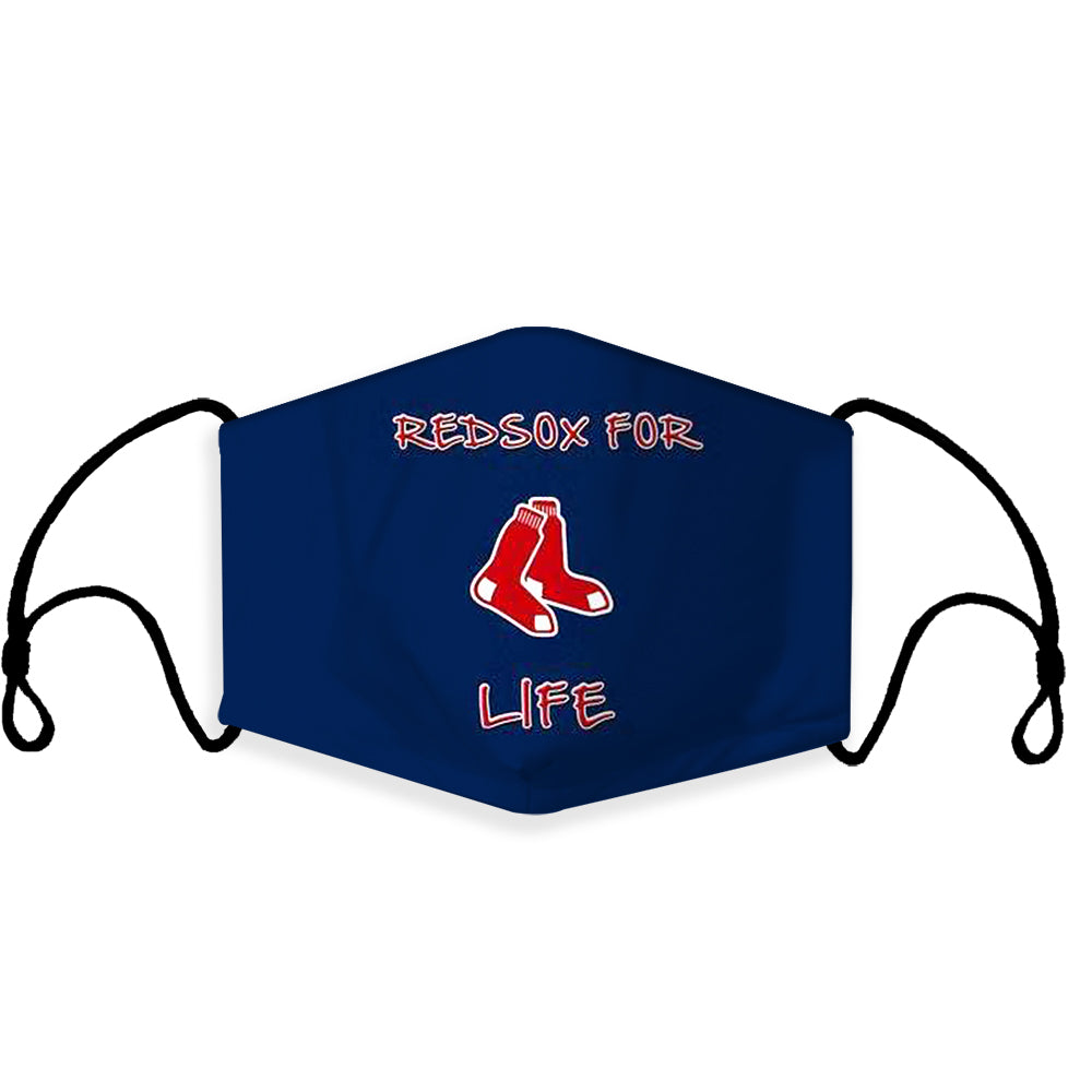 Ready to Ship Cloth Face Mask, Boston Red Sox for life, Sports Face Mask, MLB Baseball Masks, Washable, Reusable, Fashion Adult & Children Masks, Full Coverage!