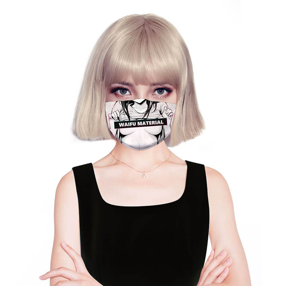 Waifu Material Reusable Face Mask Full Coverage Face Mask Fashion Face Mask