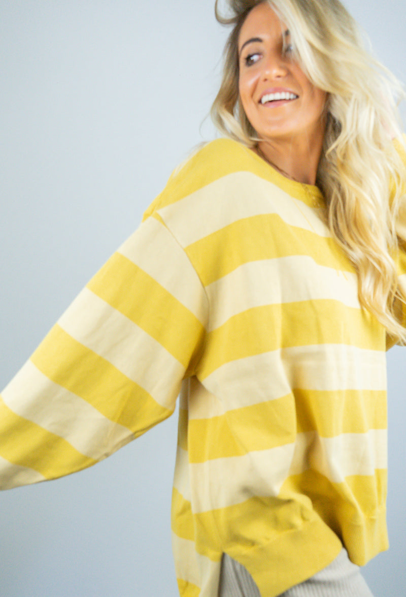 Yellow Crew Sweater