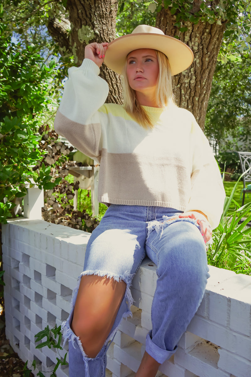 Sunkissed Cropped Knit