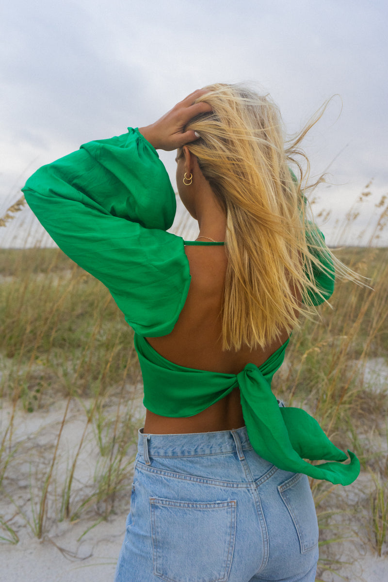 Day Dream Tie-Top (in Emerald)