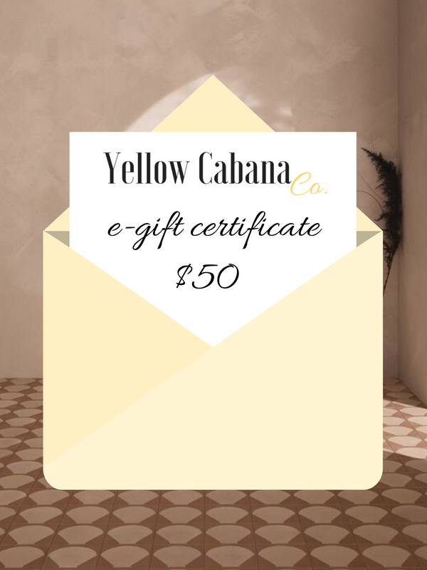 Yellow Cabana Co. $50 E-Gift Certificate