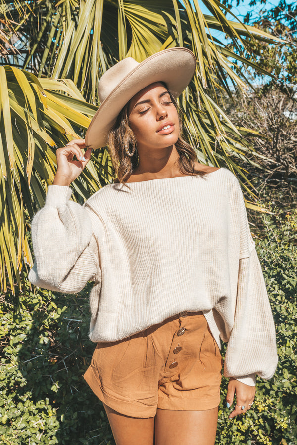 Boat Days Cream Sweater