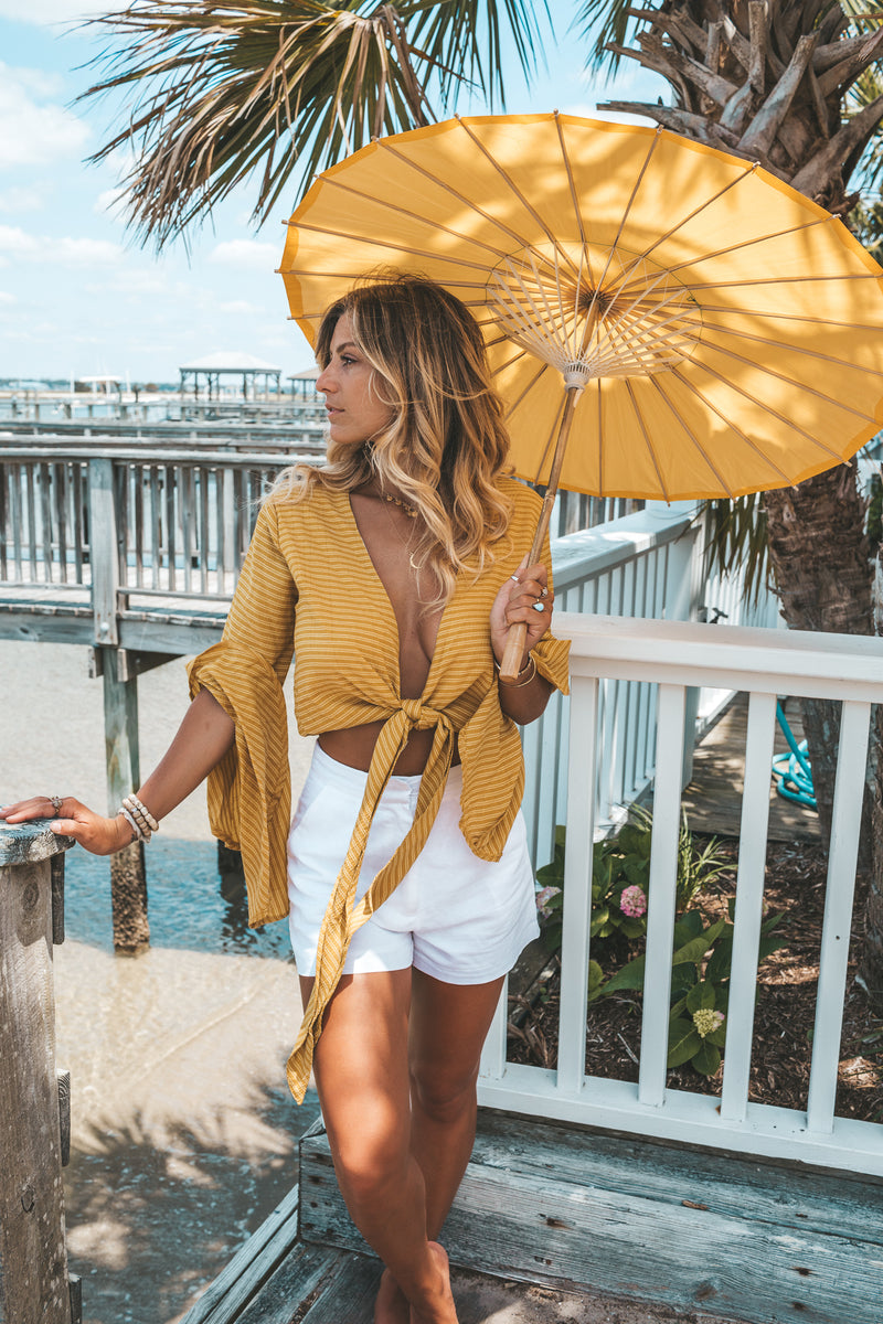 Sunshine On a Cloudy Day Tie Top