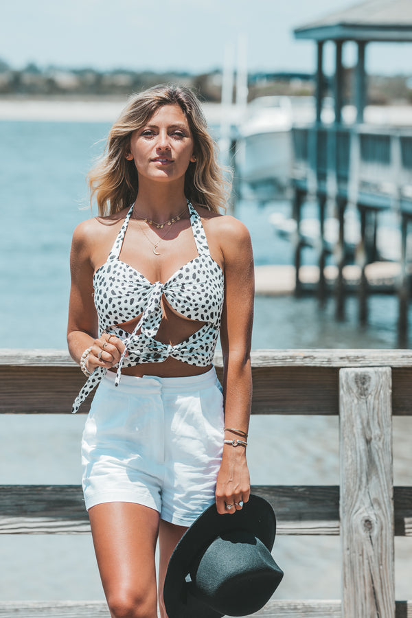 Beach Walk Tie Top