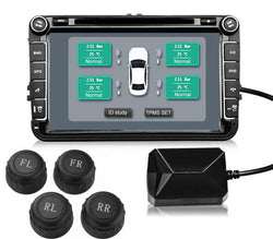 USB TPMS Tire Pressure Monitoring System For Android Head Units w/ External Sensors