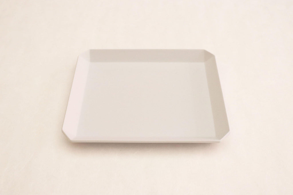 "TY""Standard"" Square Plate plain Gray 165"