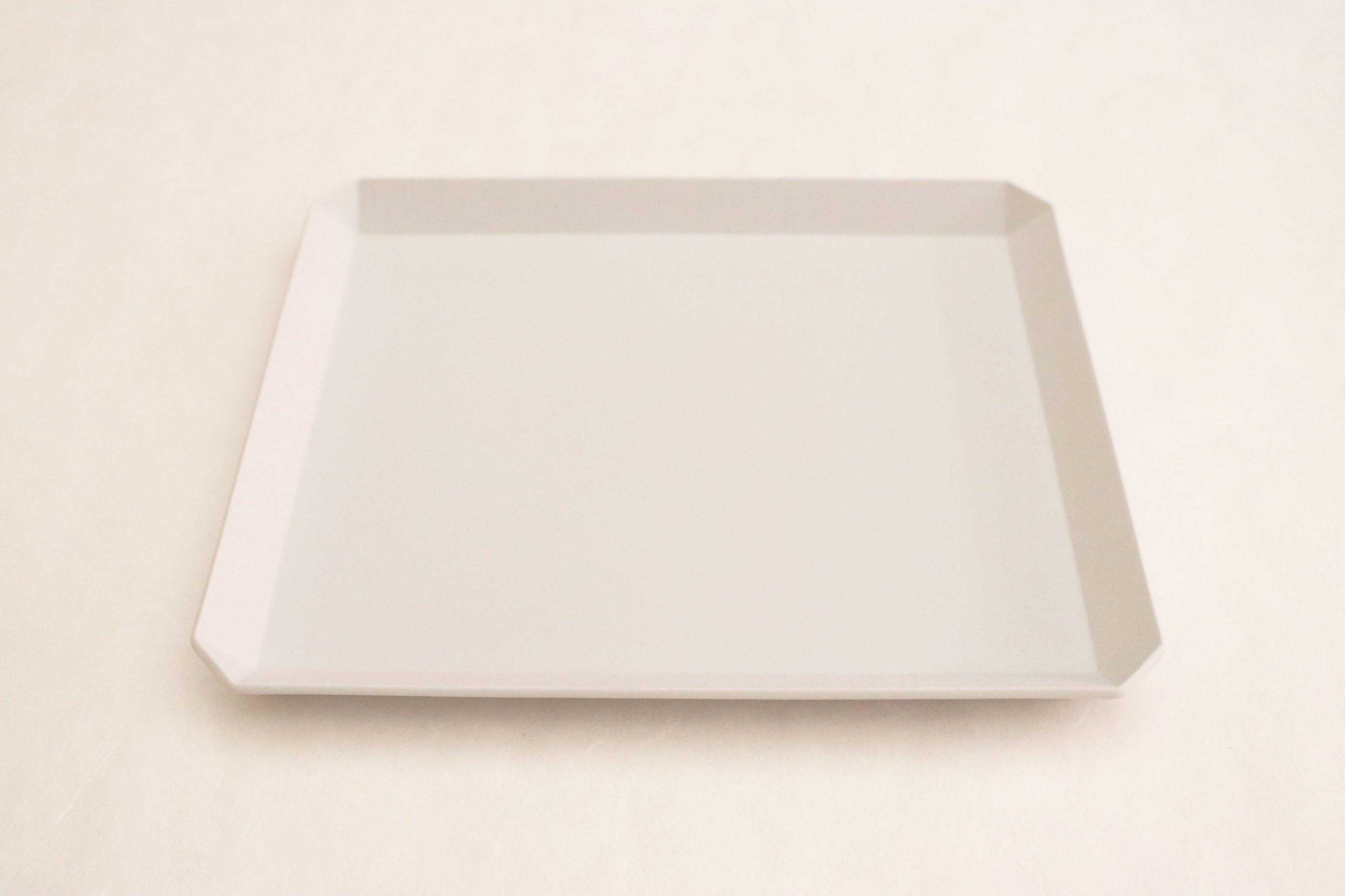 "TY""Standard"" Square Plate plain Gray 200"