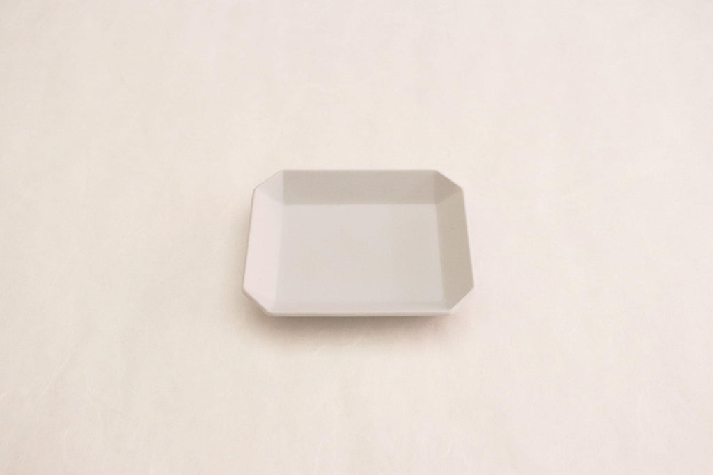 "TY""Standard"" Square Plate plain Gray 90"