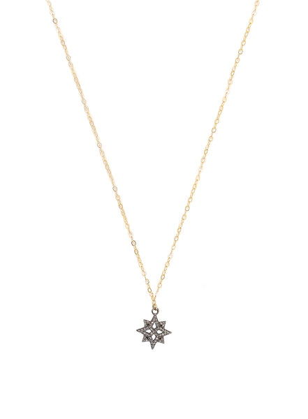 Pave Diamonds Star, 14k Goldfilled Chain NE 1992 A