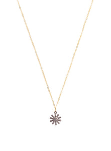 Pave Diamonds Star, 14k Goldfilled Chain