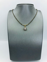 Load image into Gallery viewer, Rose cut Diamond and Pave Diamonds, Pyrite Chain NE 2052