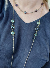 Load image into Gallery viewer, Hematite Beads and Labradorite and Quartz Necklace