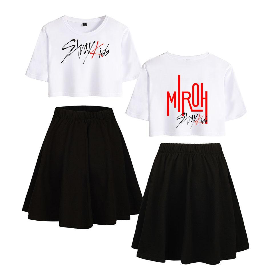 STRAYKIDS MIROH SET T-SHIRT SKIRT