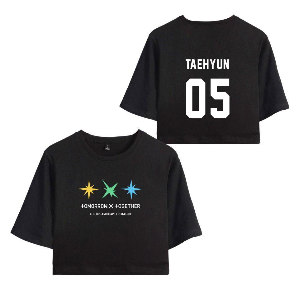 TXT TOMORROWXTOGETHER WITH BAND MEMBER CROP TOP