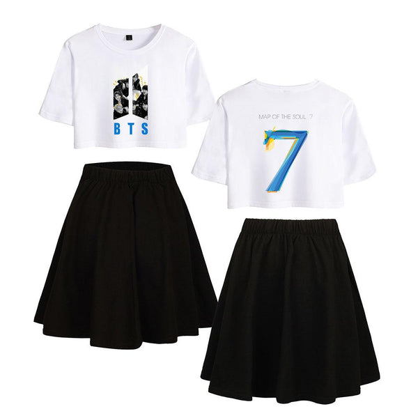 BTS BANGTAN BOYS THE MAP OF SOUL 7 SET T-SHIRT SKIRT