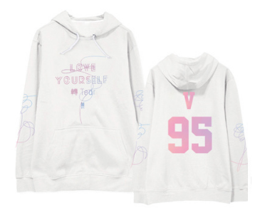 BTS BANGTAN BOYS LOVE YOURSELF BLUZA Z KAPTUREM