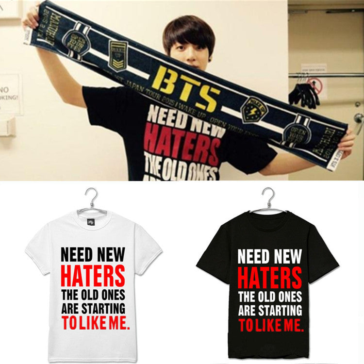 "BTS JUNG KOOK ""NEED NEW HATERS"" T-SHIRT"