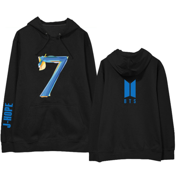 BTS BANGTAN BOYS MAP OF THE SOUL 7 WITH A MEMBER HOODIE