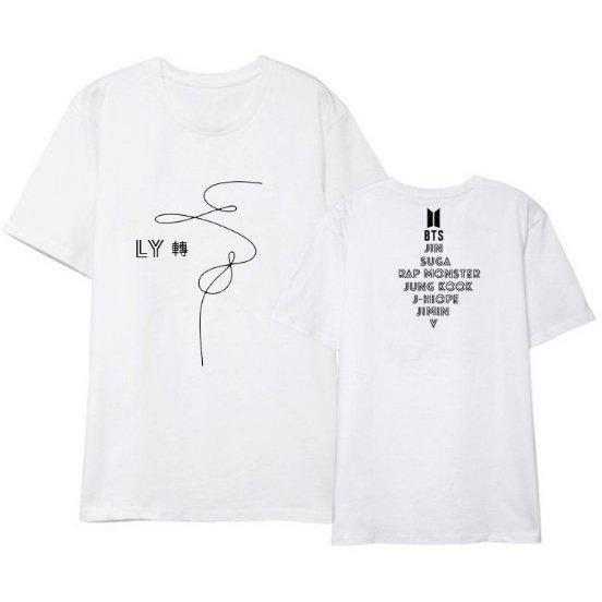 """BTS BANGTAN BOYS LOVE YOURSELF: TEAR"" WITH MEMBERS T-SHIRT"