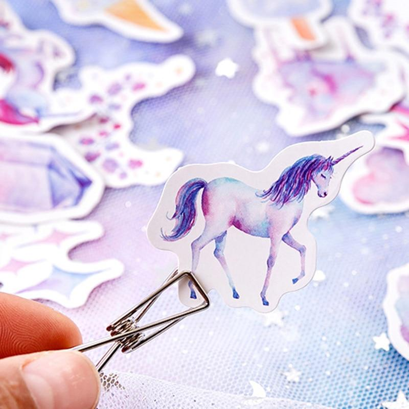 46 PIECES CUTE UNICORN STICKERS