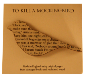 To Kill A Mockingbird Wooden Brooch