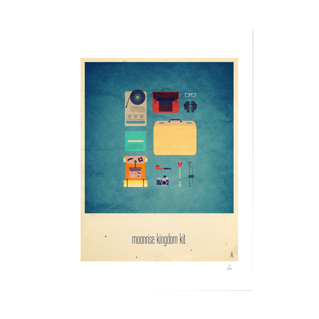 Moonrise Kingdom Kit Print (Framed)