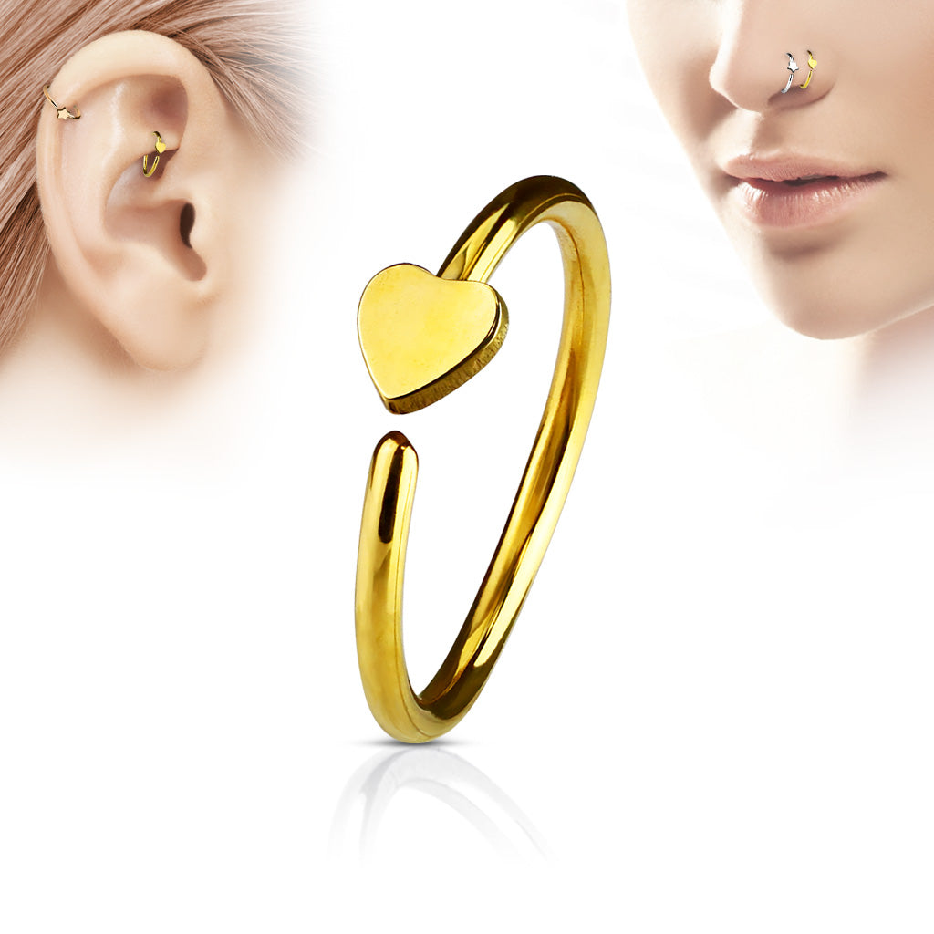 Surgical Steel Plated Nose Hoop Ring