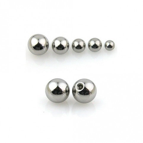 Surgical Steel Ball Tops Threaded Plain