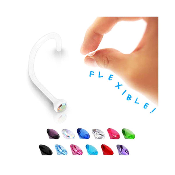 Bio-Flex Nose Screw with Gem Top