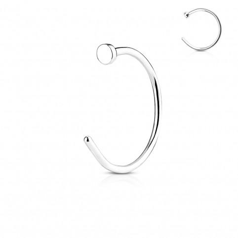 Surgical Steel Nose Hoop with Flat End