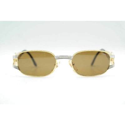 Castellani Target/03 Gold Silber oval Sonnenbrille sunglasses Brille Neu - Kleidung & Accessoires:Damen-Accessoires:Sonnenbrillen &