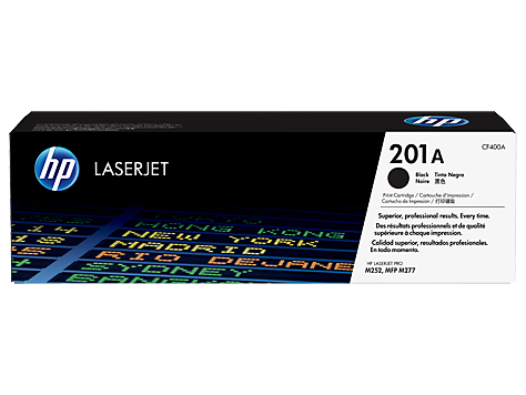 HP 201A (CF400A) Color LaserJet Pro M252 MFP M277 Black Original LaserJet Toner Cartridge (1500 Yield)