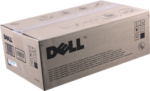 Dell 3130CN High Yield Cyan Toner Cartridge (OEM# 330-1199) (9000 Yield)