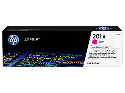 HP 201A (CF403A) Color LaserJet Pro M252 MFP M277 Magenta Original LaserJet Toner Cartridge (1400 Yield)