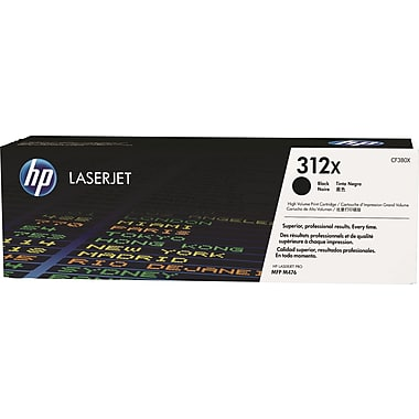 HP 312X (CF380X) Color LaserJet Pro MFP M476 High Yield Black Original LaserJet Toner Cartridge (4400 Yield)