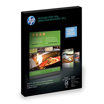 "HP HP Inkjet Brochure Paper 180g 48# Glossy 98 Bright (8.5"" x 11"") (Two Sided) (50 Sheets/Pkg)"