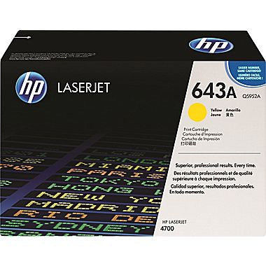 HP 643A (Q5952A) Color LaserJet 4700 Yellow Original LaserJet Toner Cartridge (10000 Yield)